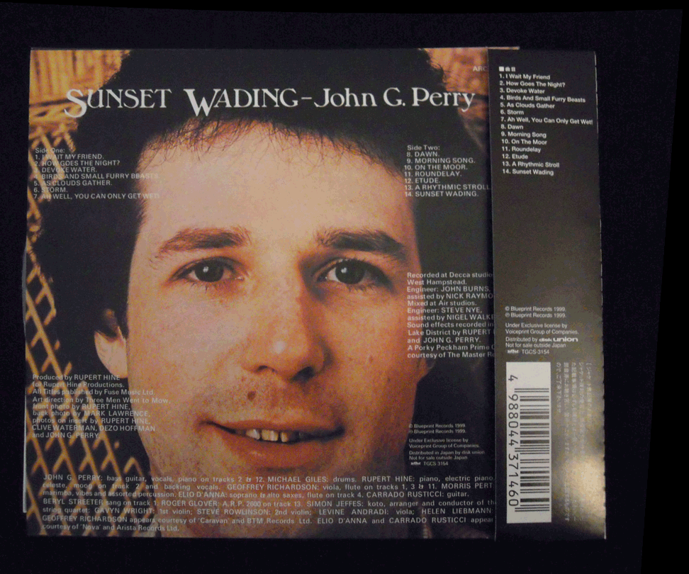 John g perry sunset wading 2006 arcngelo records reissue bass pause malvernweather Choice Image
